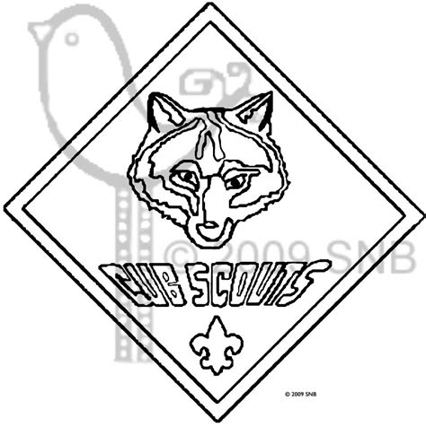 Scout Logo Outline by Cub Scouts Wolf Cub Scouts Coloring Pages Scouts