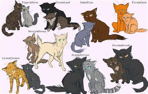 WARRIORS by Erin Hunter  Tigerheart + Dovewing ... Leafpool And Crowfeather Mating