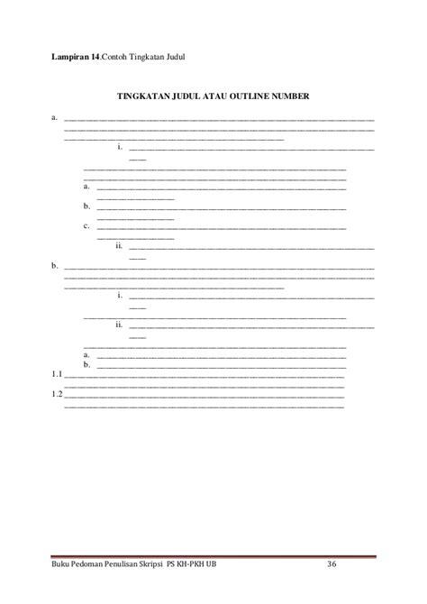 format penulisan skripsi fia ub pedoman penulisan skripsi kedokteran hewan