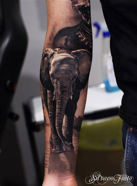 realistic tattoo design realistic elephant sleeve best ideas designs