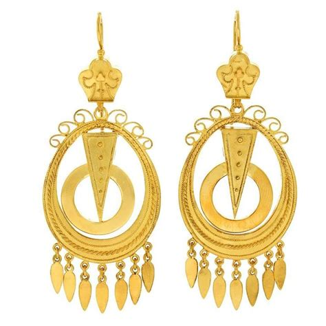 antique gold chandelier antique yellow gold chandelier earrings for sale at 1stdibs