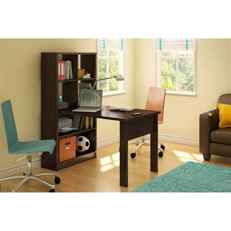 south shore desk and bookcase unit combo colors