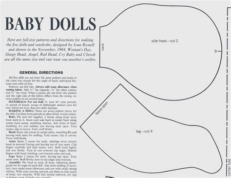 printable fabric doll patterns vintage cloth doll patterns july 2014