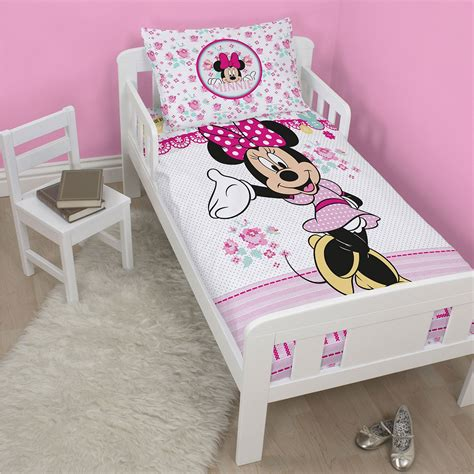 minnie mouse bed set minnie mouse handmade junior cot bed duvet cover set