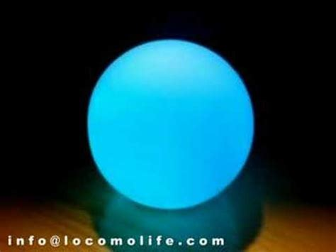 Lights That Change Color With Music Locomo Color Changing Led Mood Light Lamp Ball Youtube