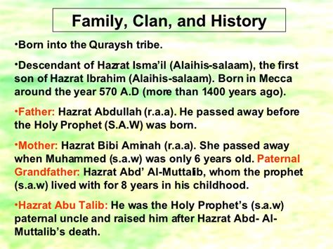 Biography Of Hazrat Ibrahim In English | copy of presentation1 holy prophet muhammed s a w