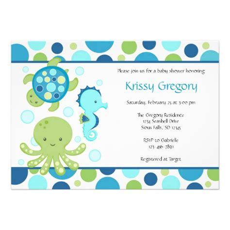 Where Is The Sea Of Showers by Sea Baby Shower Invitations 5 Quot X 7 Quot Invitation Card Zazzle