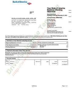 Bank Statement Bank America In 2018 Fake Documents Pinterest Bank Statement Statement Bank Of America Statement Template