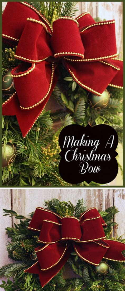 how to make the perfect christmas bow diy decorating ideas for
