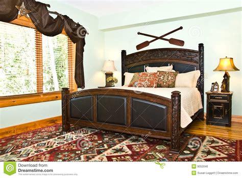 modern bedroomrustic decor stock photo image