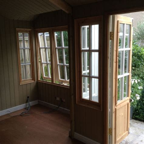 Lining Shed Walls by Inside The Summerhouse Showing The Electric Cable And Mdf