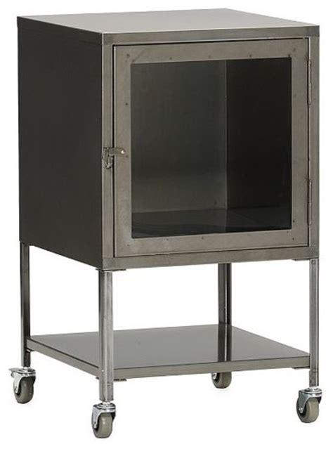 short industrial metal bath cabinet eclectic bathroom