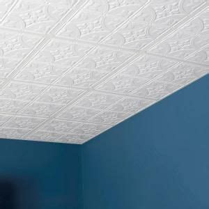 genesis 2 ft x 2 ft antique white ceiling tile white
