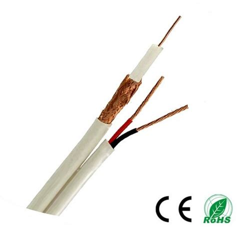 Kabel Coaxial Cctv Rg59 Power Panjang 50 Meter Warn Berkualitas high quality cctv coaxial cable rg59 2c rg59 siamese with power security cable koaxial