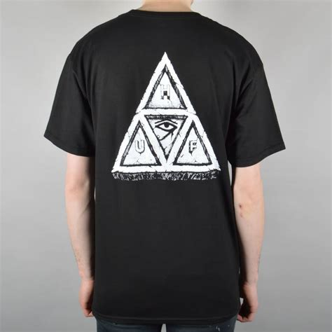 T Shirt Triangle huf sumra triangle t shirt black skate clothing
