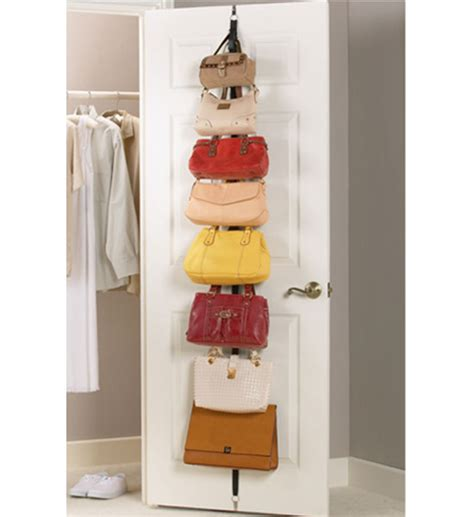 over the door purse rack over the door adjustable purse racks set of 2 in purse organizers