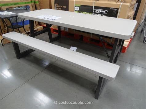 lifetime 6 ft folding picnic table with benches lifetime products 6 foot folding picnic table