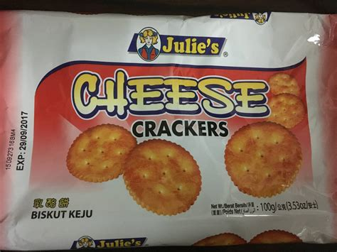 Biskut Cheese Julie S Cheese Crackers Biskut Keju Nutrition Facts