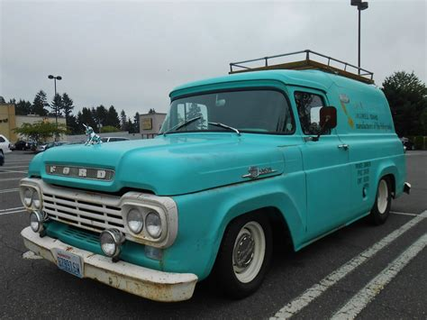 59 ford panel truck seattle s parked cars 1959 ford panel truck
