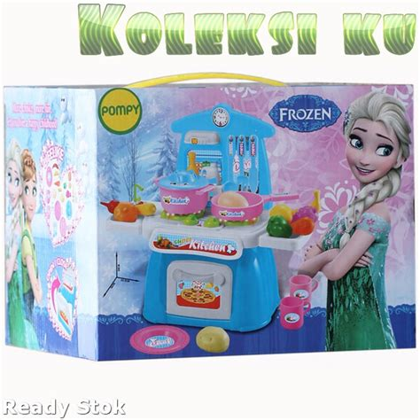 Mainan Mini Kitchen Yh189 2 jual mini kitchen set frozen mainan kado cewek baru