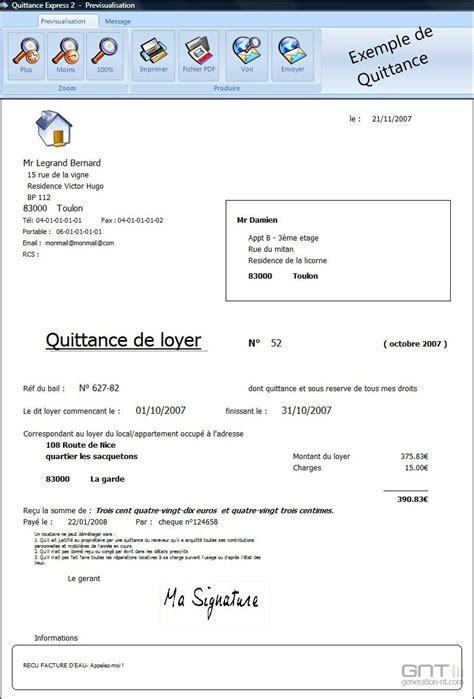 Exemple De Lettre De Quittance Partielle Quittance Express