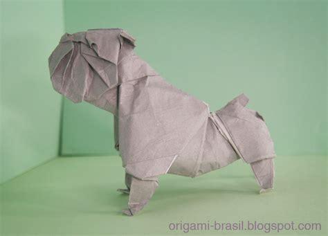Bulldog Origami - como fazer um bulldog de origami origami brasil