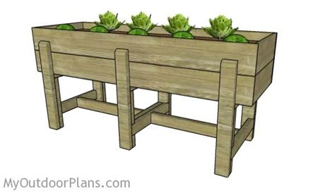 elevated bed frame plans waist high raised garden bed plans myoutdoorplans free