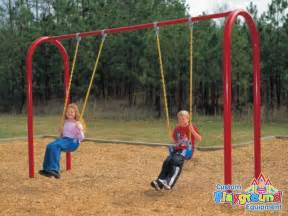 Swing With Commercial Swing Set 3 5 Quot Posts Arch Swingset