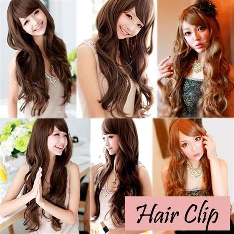 Wig Orange Tanpa Poni best seller hair clip curlywave 3 layer ombre