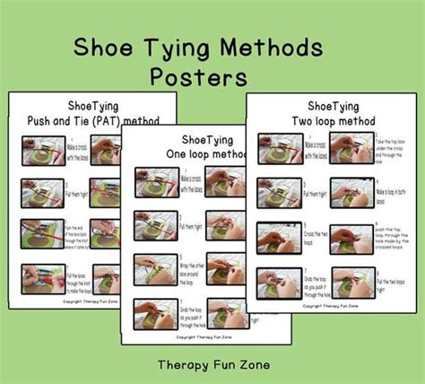 shoe tying methods for shoe tying methods poster therapy store and