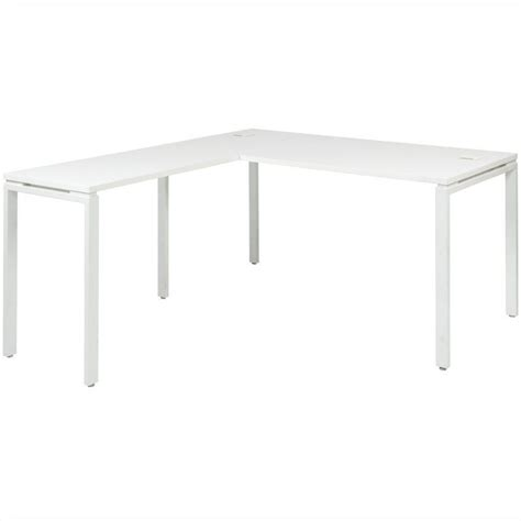 office prado l shape workstation desk in white