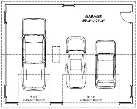 dimensions of 3 car garage 3 car garage dimensions venidami us
