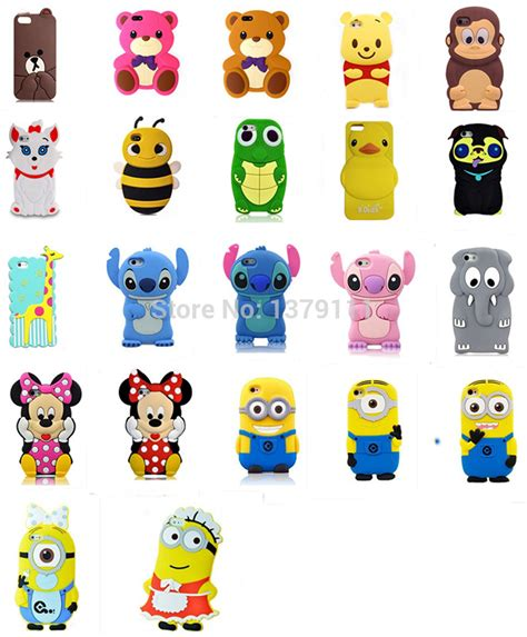 Silicon 4d Softcase 3d Panda Fashion Iphone Samsung Oppo Vivo newest 3d animal monkey duck giraffe turtle
