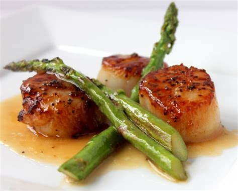 seared scallops with asparagus how to feed a loon
