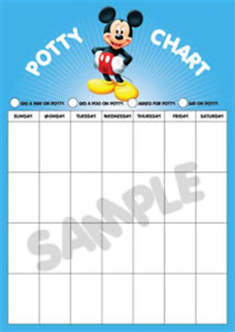 printable a3 reward charts mickey mouse potty training reward chart large a3 ebay