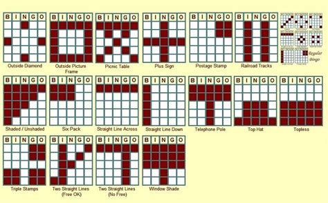 bingo pattern exles bingo patterns bingo night pinterest