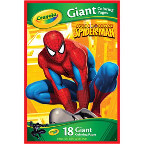 marvel giant coloring pages crayola marvel spiderman giant coloring pages 18 pages