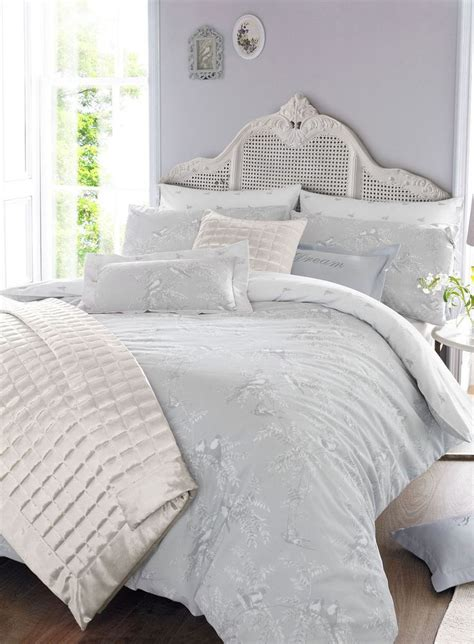 bhs exclusive holly willoughby grey fauna bed linen range   white bedrooms