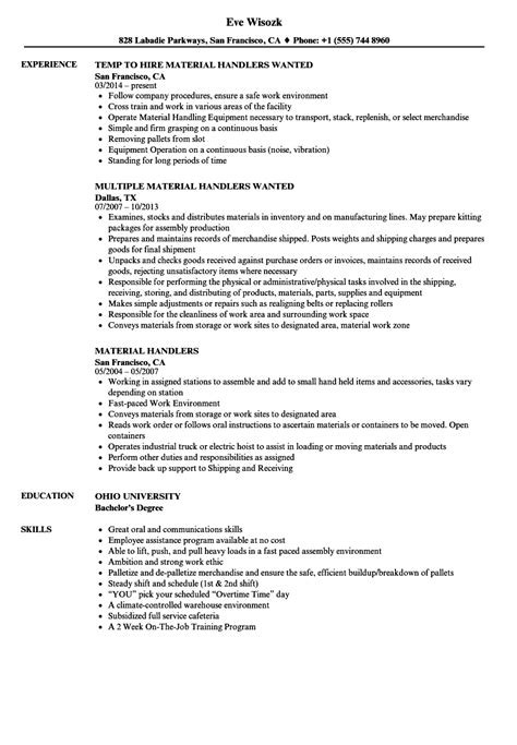 Mcroberts Security Officer Sle Resume by Sle Resume For Material Handler Mcroberts Security Officer Sle Resume Gis Administrator