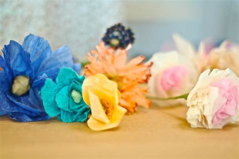 How To Make Crinkle Paper Flowers - how to make crinkle paper flowers choice image flower