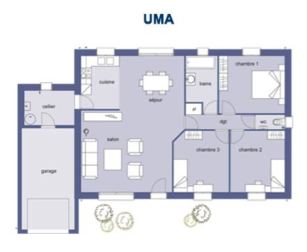 plan maison plain pied 3 chambres 100m2 plan maison en l 100m2 with plan maison en l 100m2