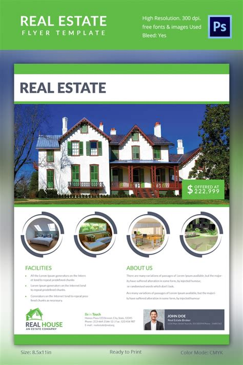 real state template real estate flyer template 35 free psd ai vector eps