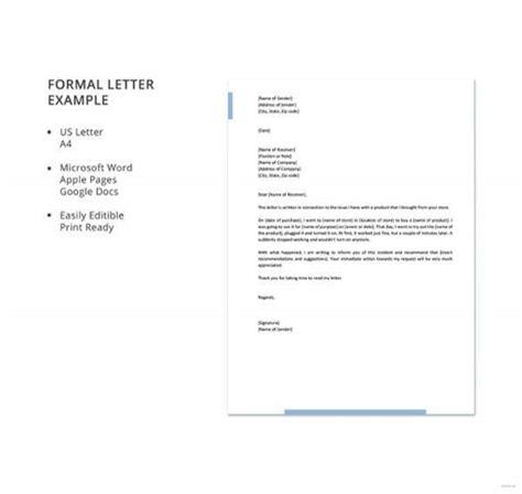 formal letter formats apple pages google