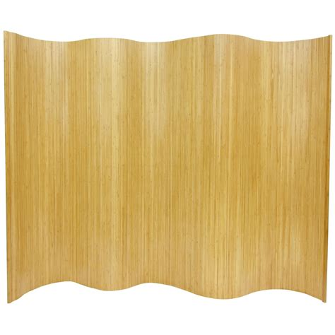 Bamboo Room Divider 6 Ft Bamboo Wave Screen Roomdividers