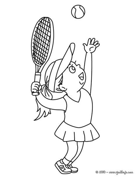 imagenes de niños jugando tenis para colorear dibujos para colorear saque de arriba es hellokids com