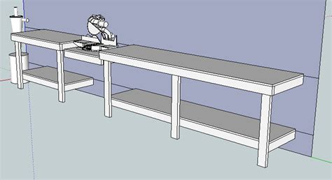 chop saw bench plans miter saw bench by dreadpirateeric lumberjocks com woodworking community