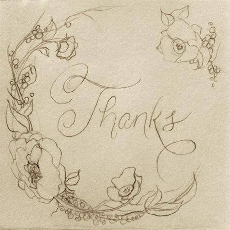 thank you card sketch echo johnson