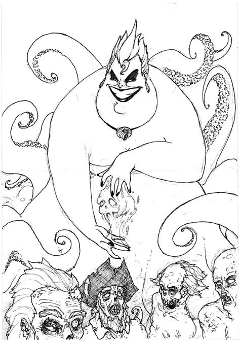 coloring pages ursula ursula the necromancer by faks on deviantart