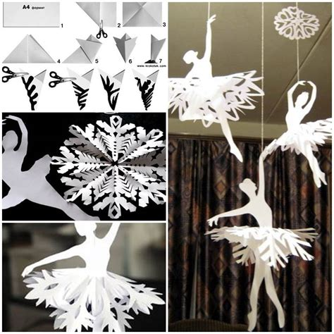 How To Make Paper Snowflake Decorations - how to make snowflake ballerinas ballerina and