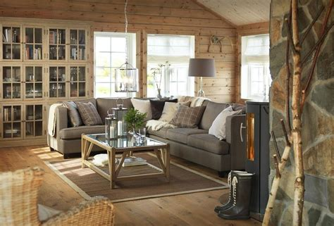 warm and comfortable swedish wooden house interior